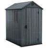 Древесно-пластиковый композитный сарай Keter Darwin 4x6 Grey
