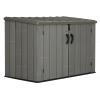 Пластиковый садовый шкаф Lifetime Woodlook 60212