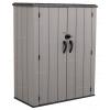 Пластиковый садовый шкаф Lifetime Woodlook 60300