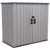 Пластиковый садовый шкаф Lifetime Woodlook 60331